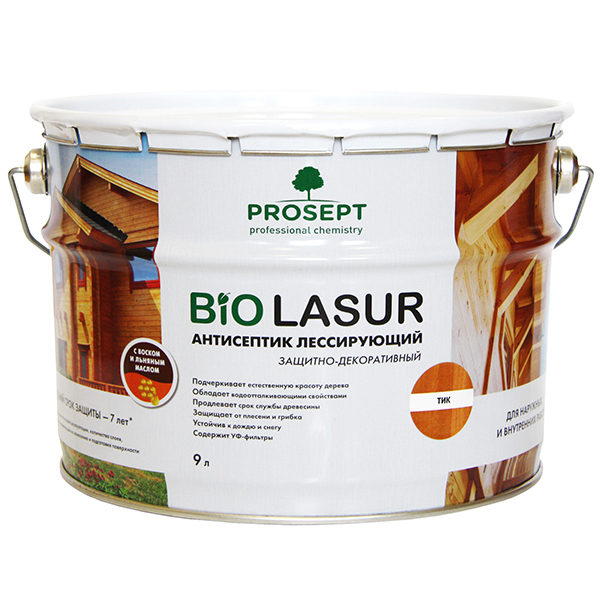 Prosept BIO LASUR лессирующая лазурь антисептик
