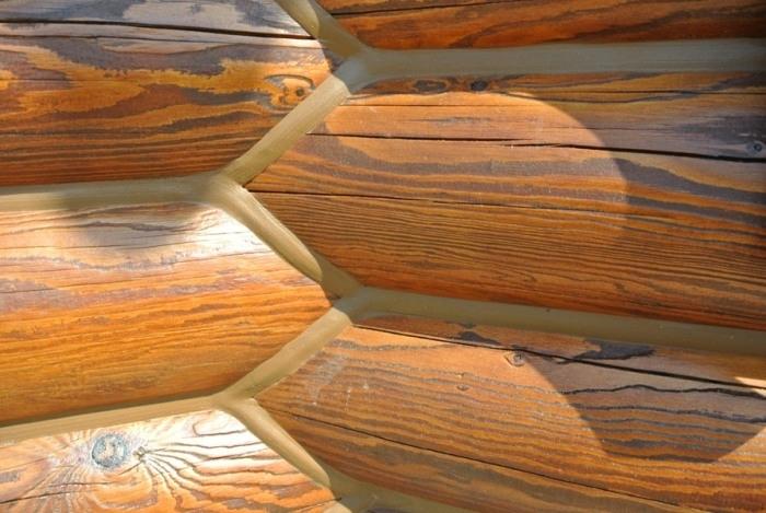 Шовныйгерметик для дерева бревен сруба из бруса